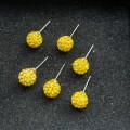 Geltoni auskarai su kristaliukais